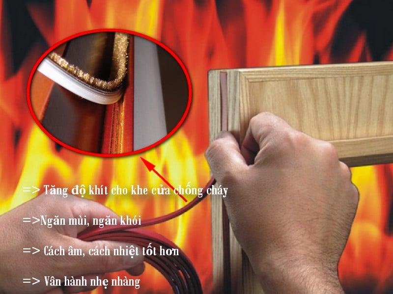 Công dụng của gioăng chống cháy